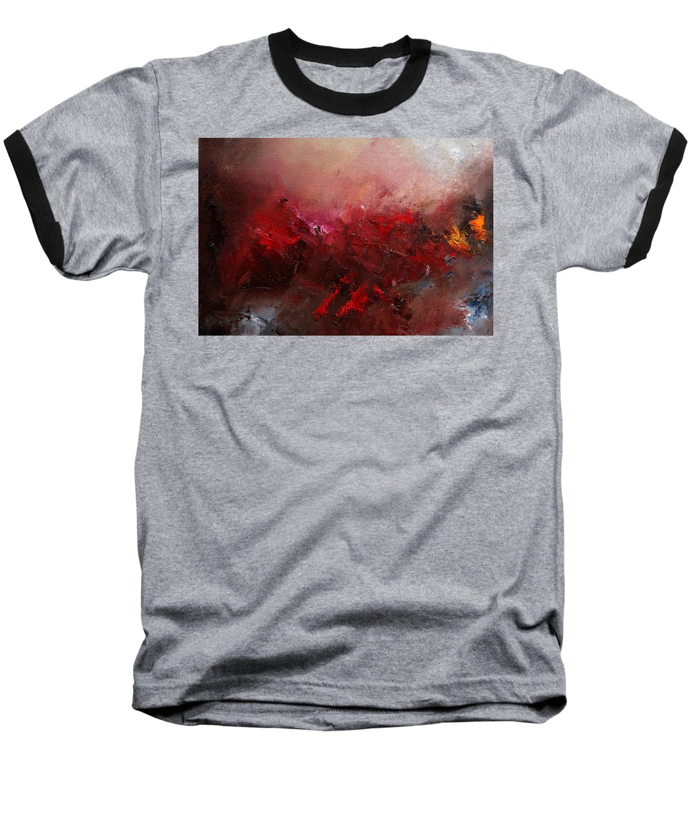 Abstract Baseball T-Shirt featuring the painting Abstract 056 by Pol Ledent