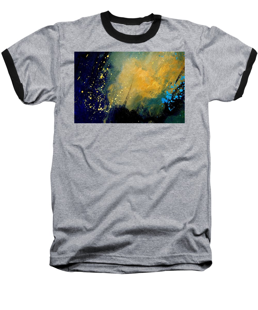 Abstract Baseball T-Shirt featuring the painting Abstract 061 by Pol Ledent