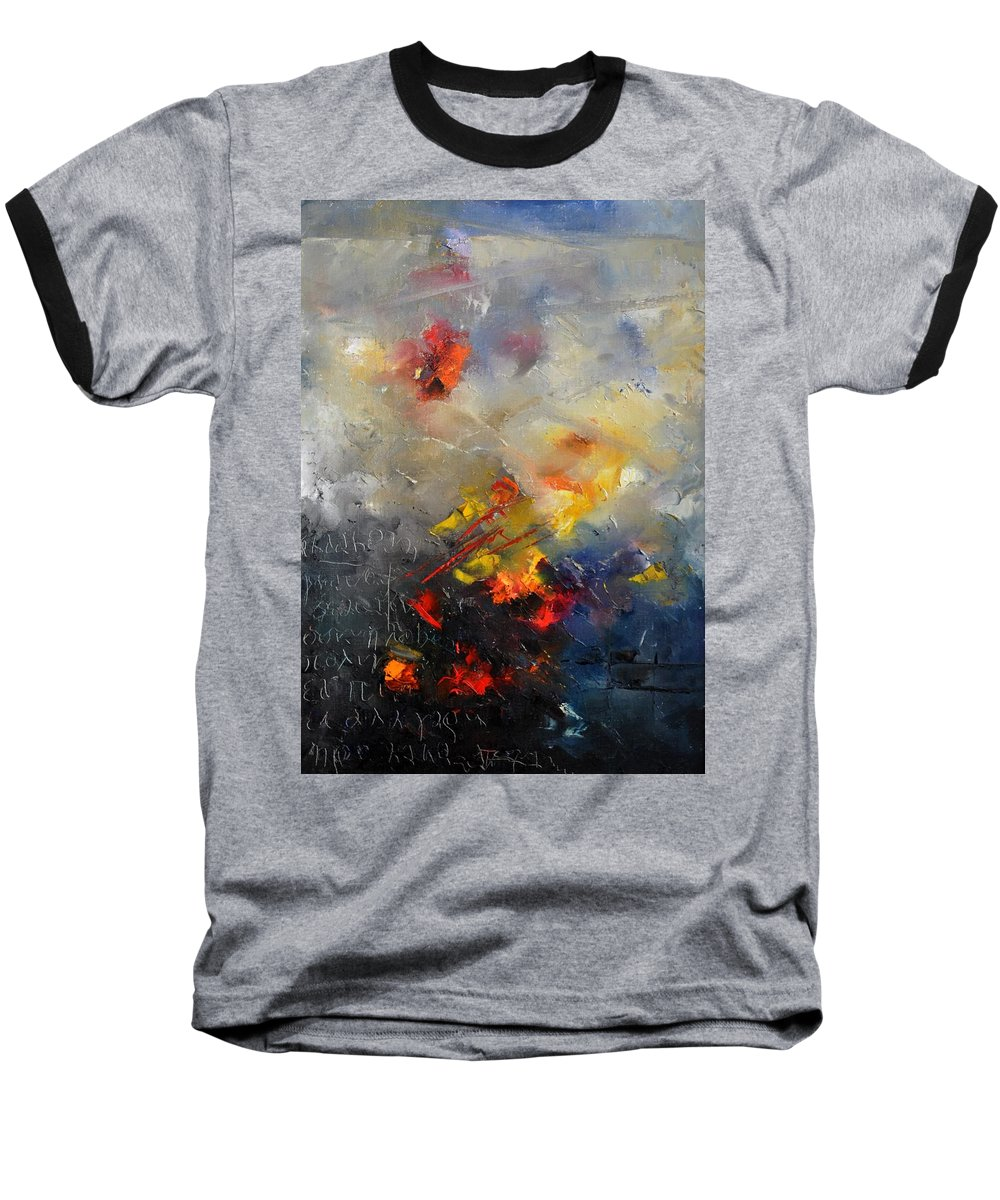 Abstract Baseball T-Shirt featuring the painting Abstract 0805 by Pol Ledent