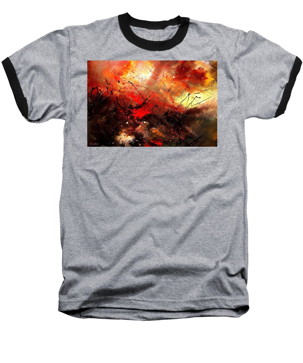 Abstract Baseball T-Shirt featuring the painting Abstract 100202 by Pol Ledent
