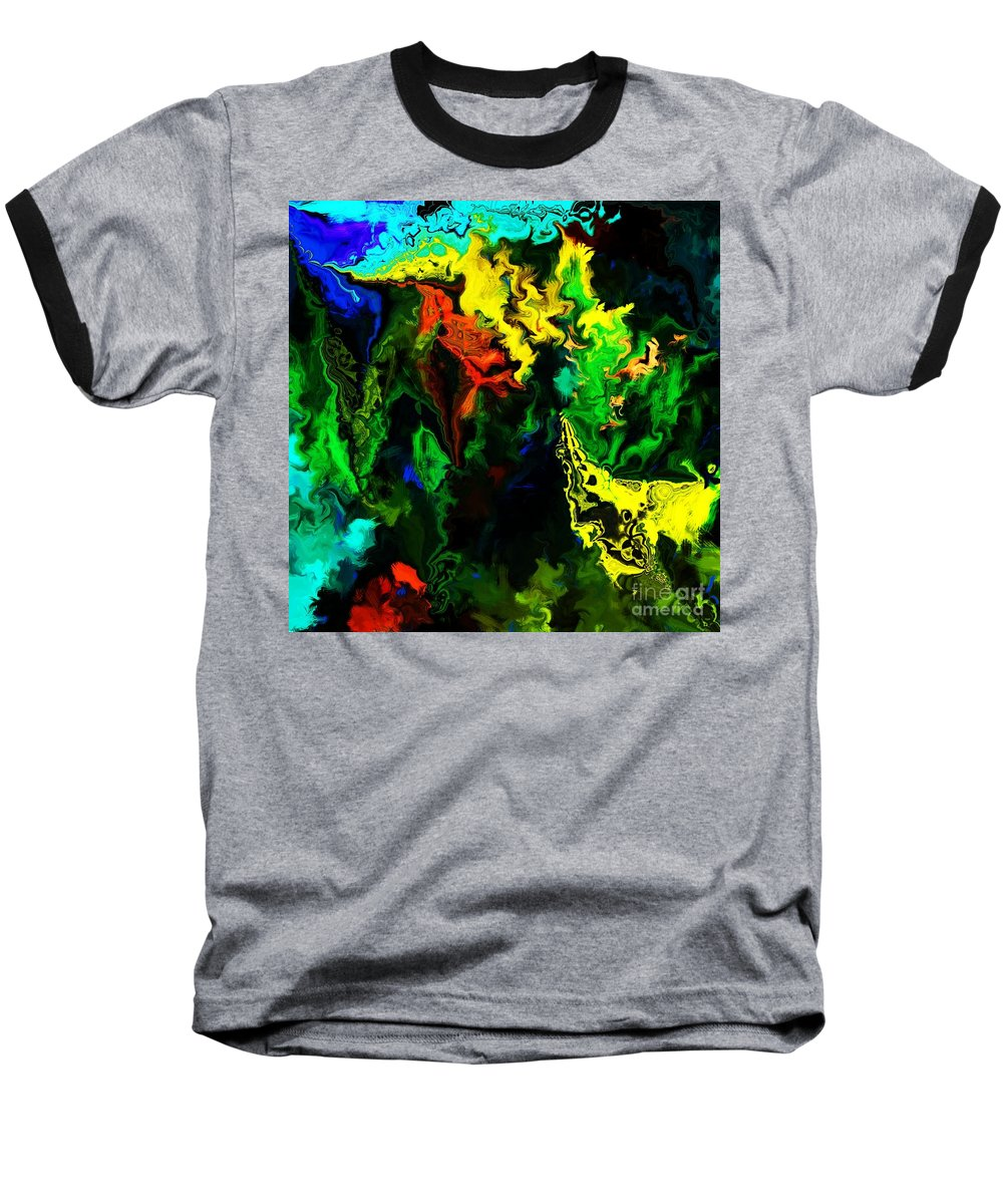 Abstract Baseball T-Shirt featuring the digital art Abstract 2-23-09 by David Lane