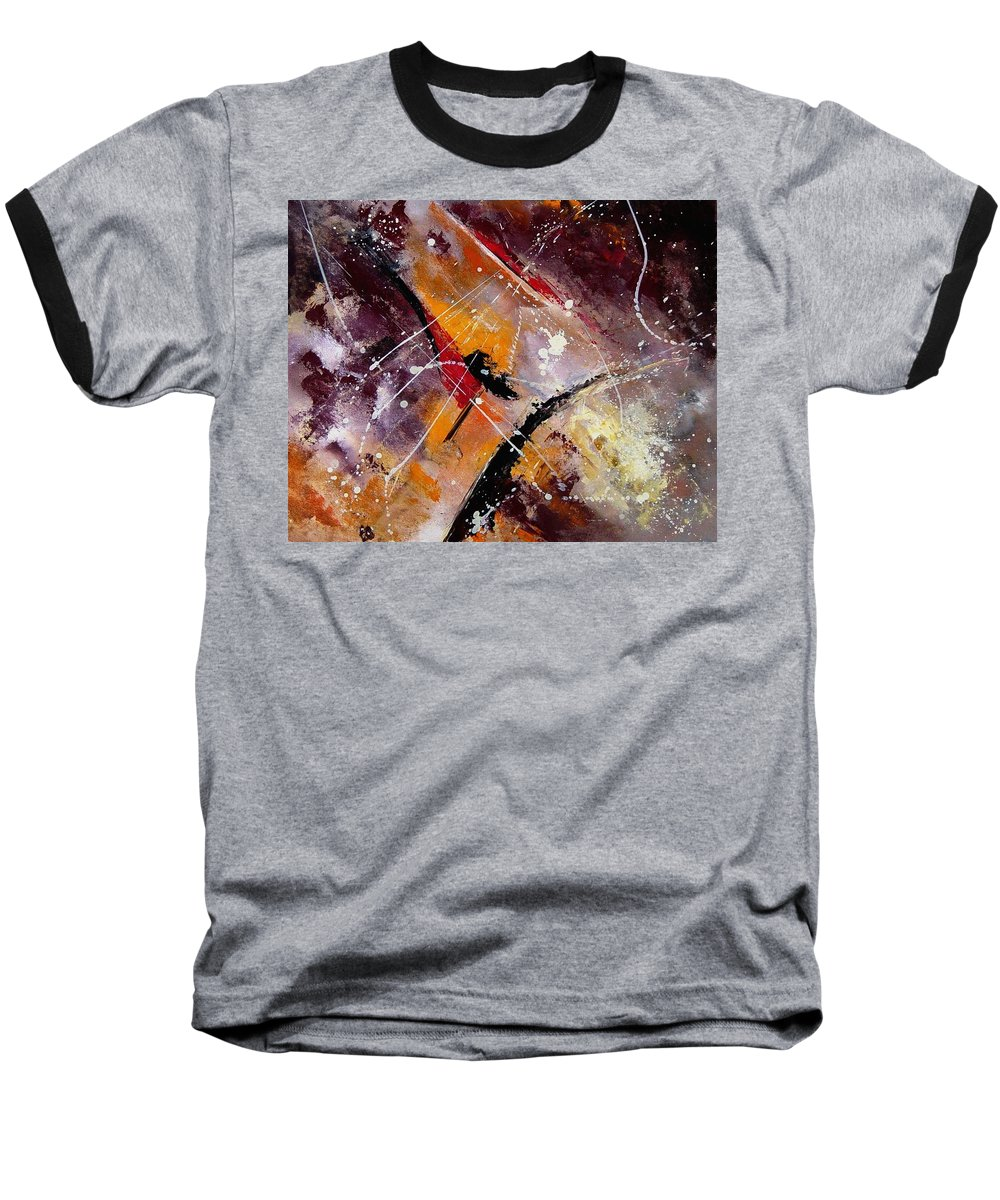 Abstract Baseball T-Shirt featuring the painting Abstract 45 by Pol Ledent
