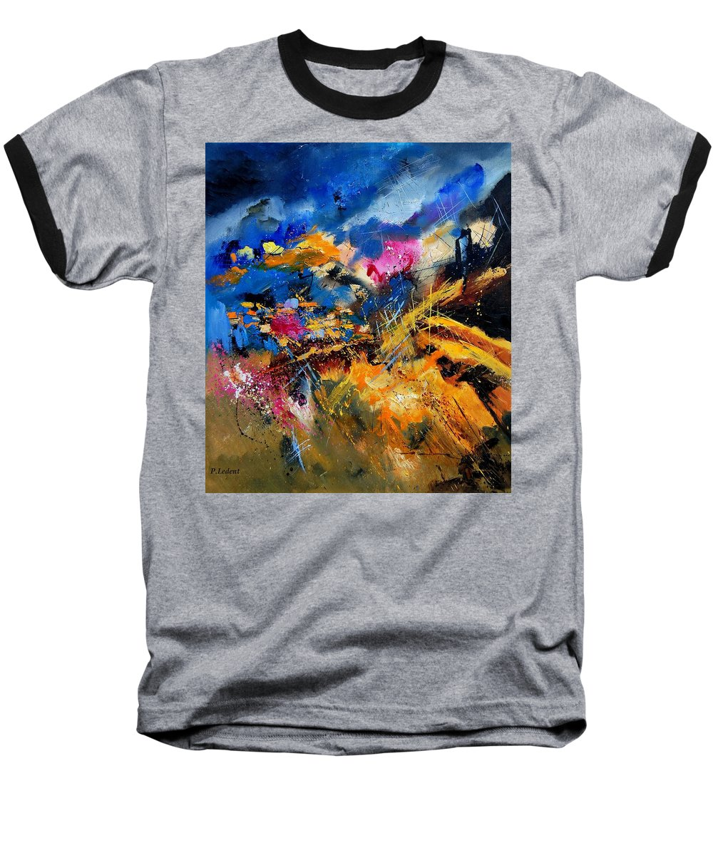 Abstract Baseball T-Shirt featuring the painting Abstract 7808082 by Pol Ledent