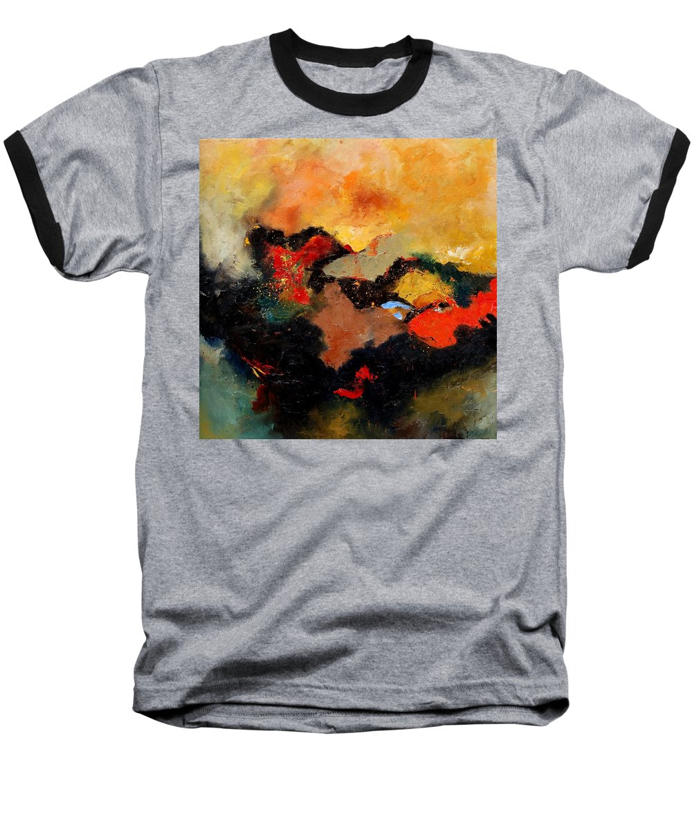 Abstract Baseball T-Shirt featuring the painting Abstract 8080 by Pol Ledent