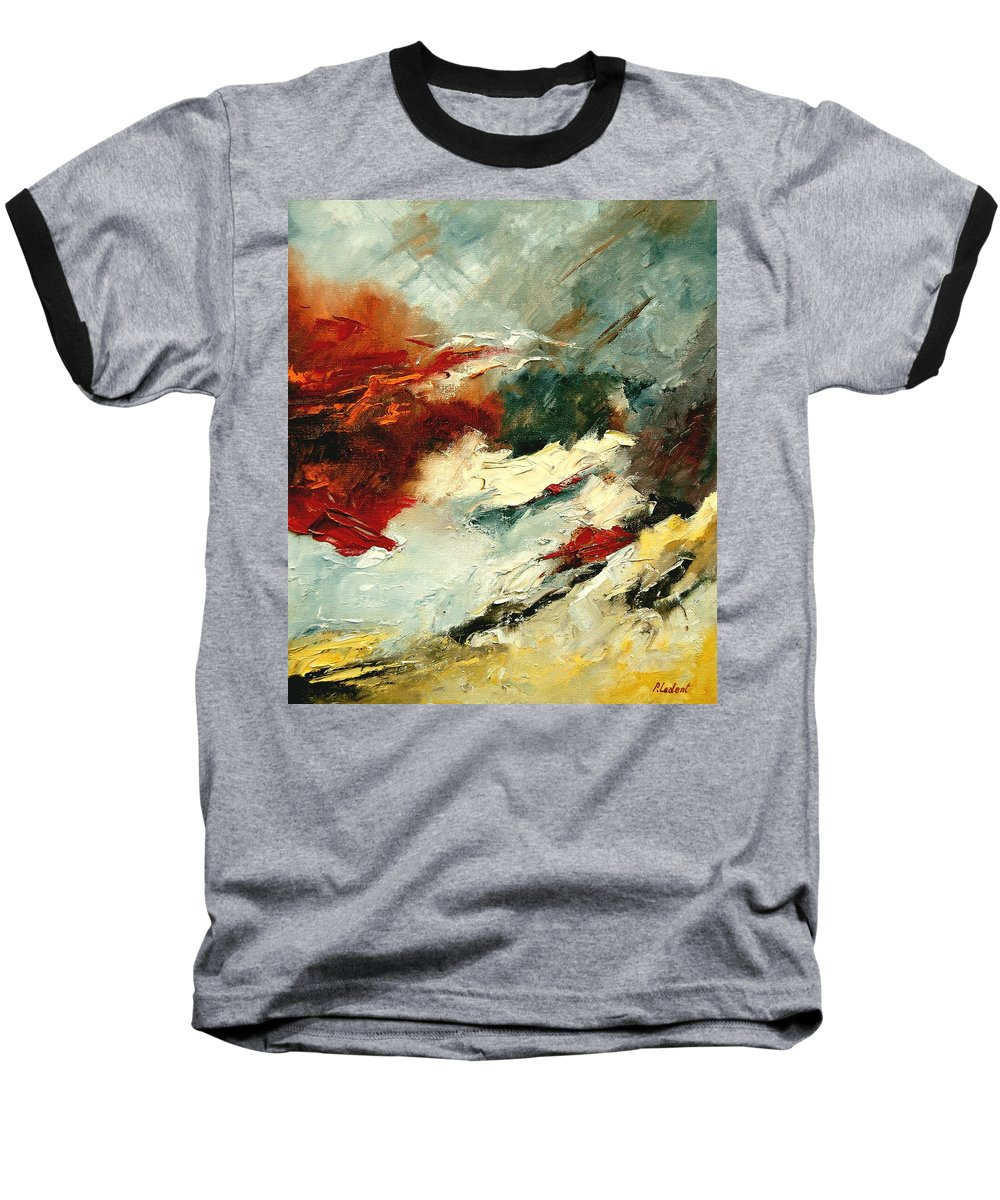 Abstract Baseball T-Shirt featuring the painting Abstract 9 by Pol Ledent