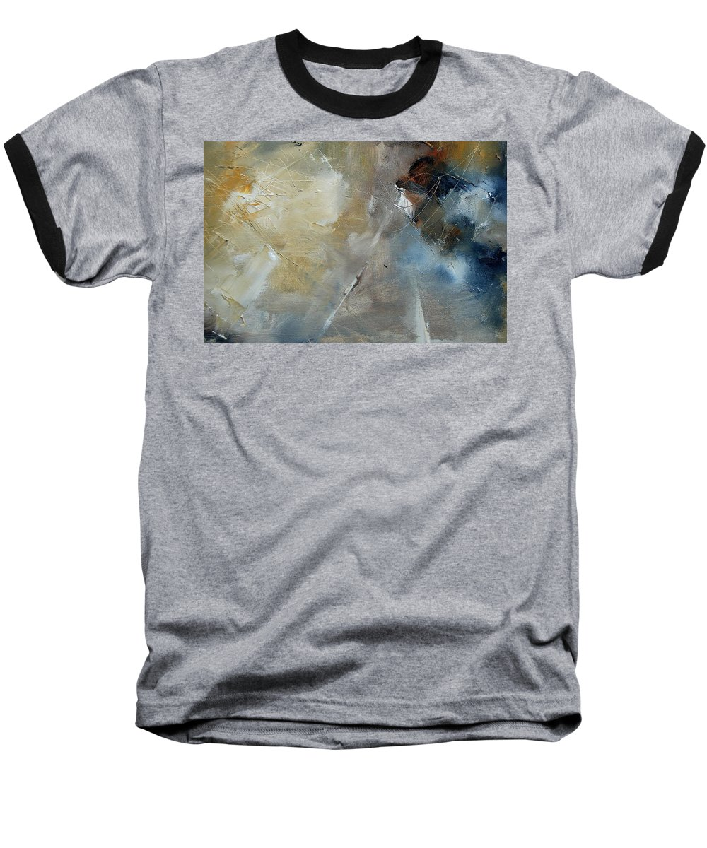 Abstract Baseball T-Shirt featuring the painting Abstract 904060 by Pol Ledent