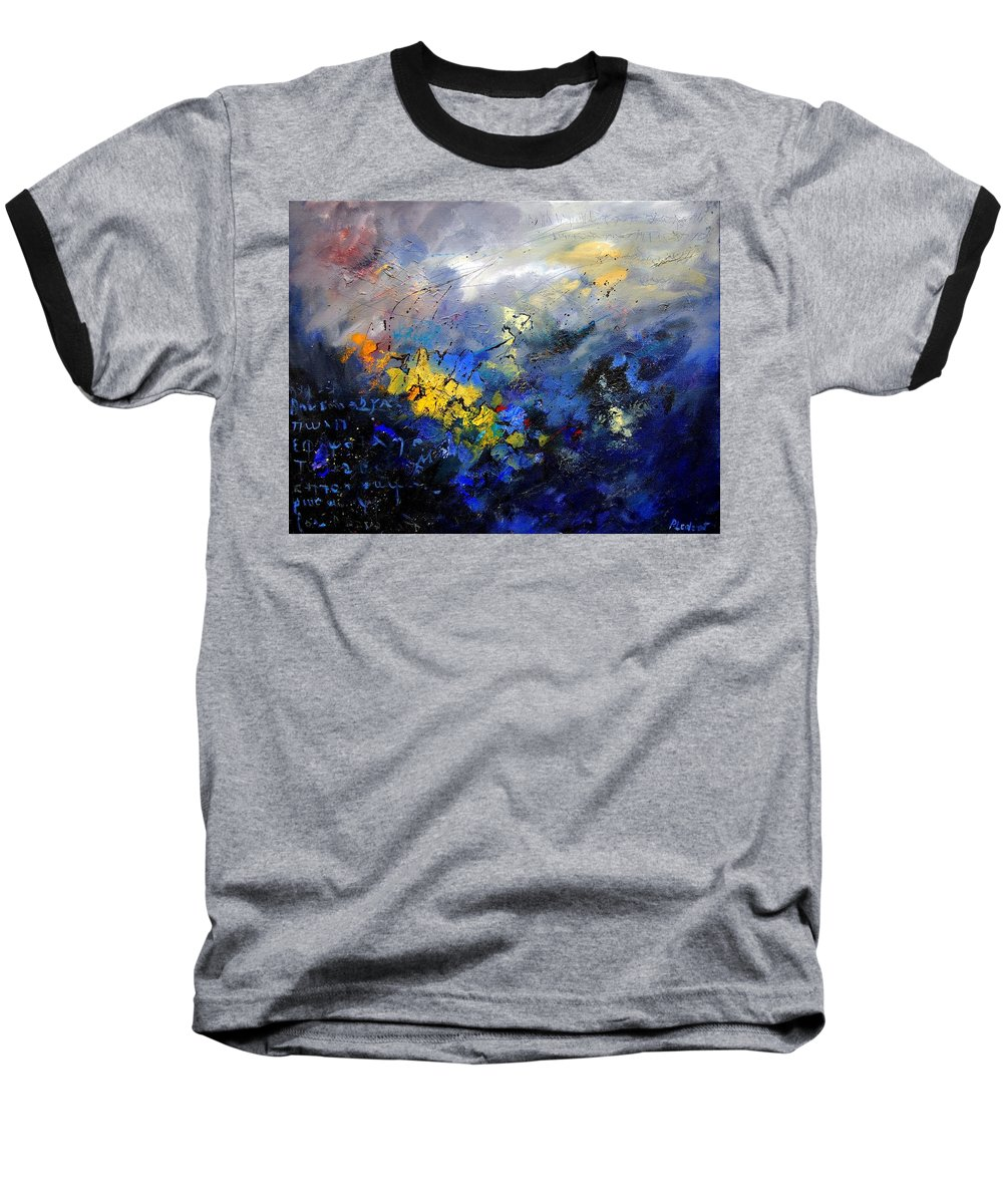 Abstract Baseball T-Shirt featuring the painting Abstract 970208 by Pol Ledent