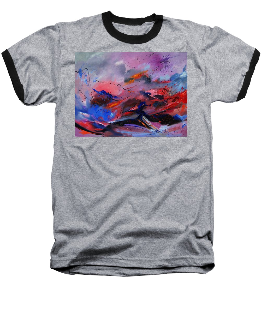 Abstract Baseball T-Shirt featuring the painting Abstract 971260 by Pol Ledent