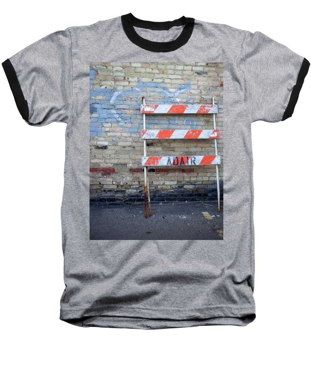 Industrial Baseball T-Shirt featuring the photograph Abstract Brick 1 by Anita Burgermeister