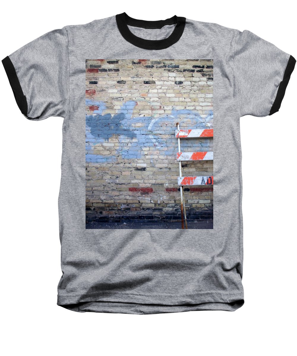 Industrial Baseball T-Shirt featuring the photograph Abstract Brick 2 by Anita Burgermeister