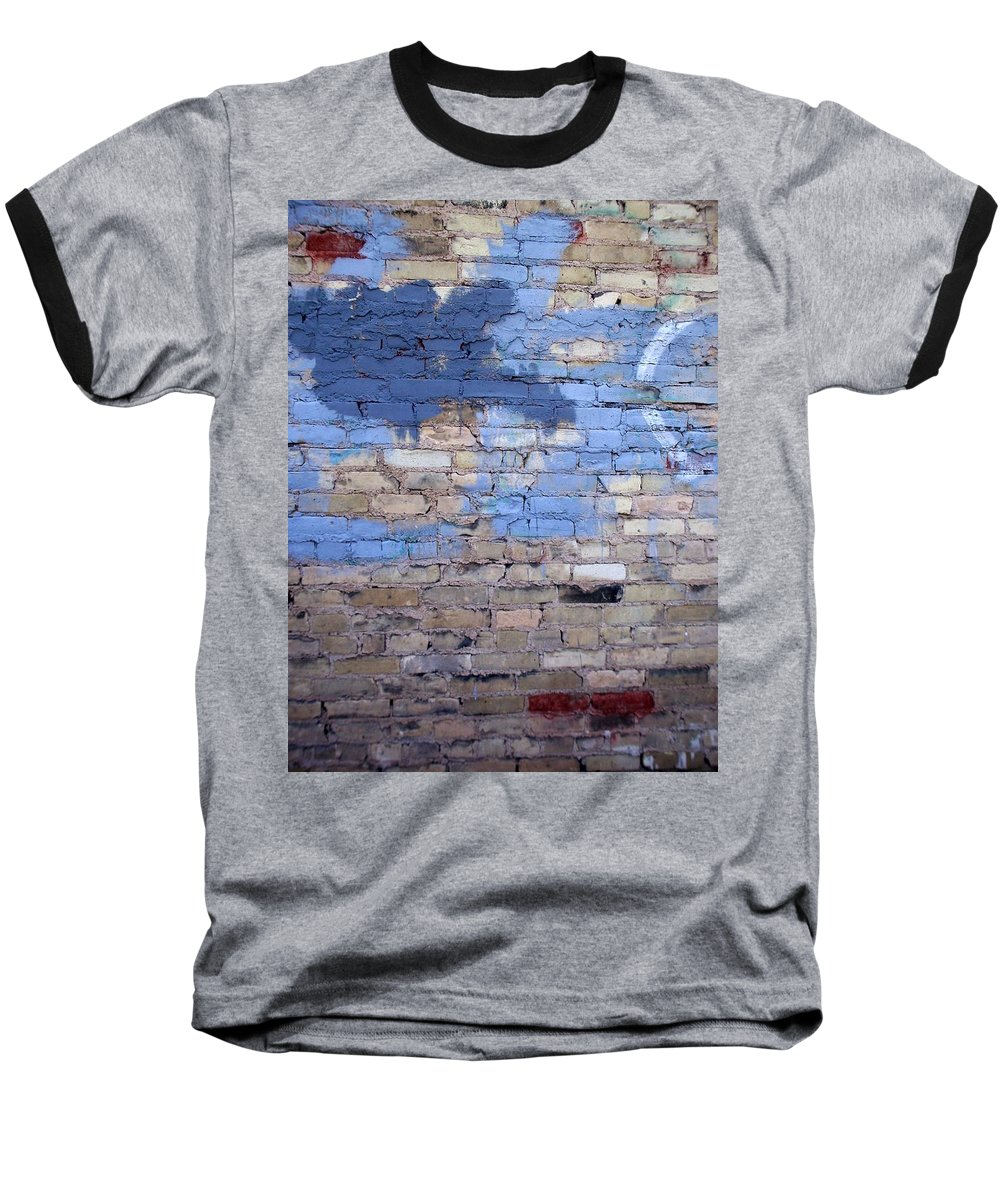 Industrial Baseball T-Shirt featuring the photograph Abstract Brick 3 by Anita Burgermeister