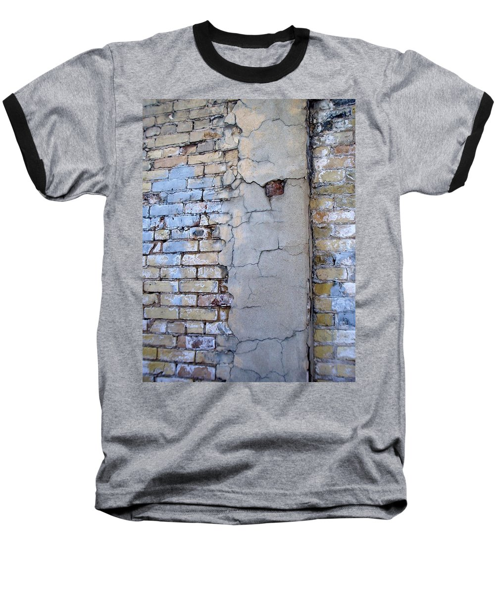 Industrial Baseball T-Shirt featuring the photograph Abstract Brick 4 by Anita Burgermeister