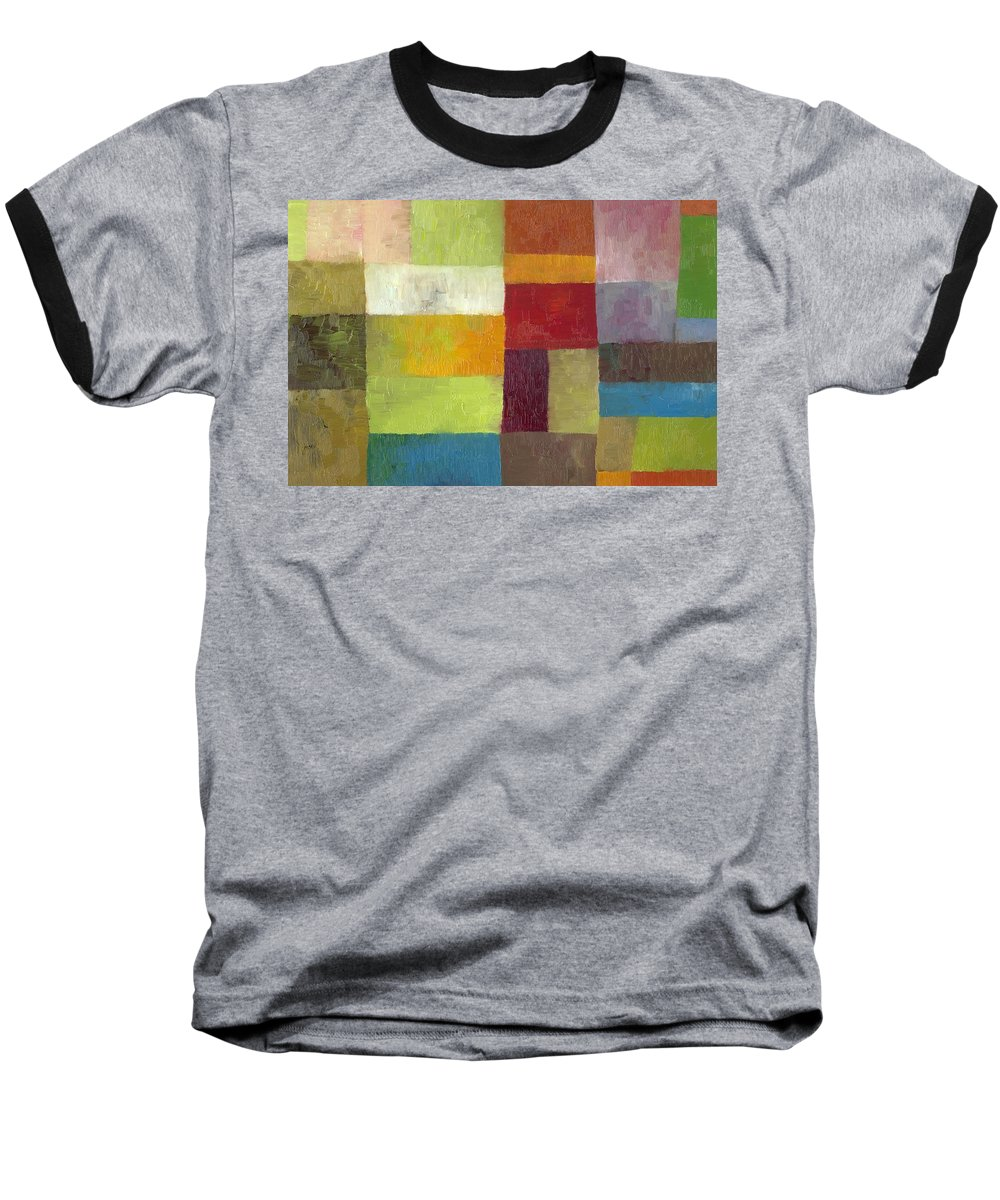 Abstract Baseball T-Shirt featuring the painting Abstract Color Study Lv by Michelle Calkins