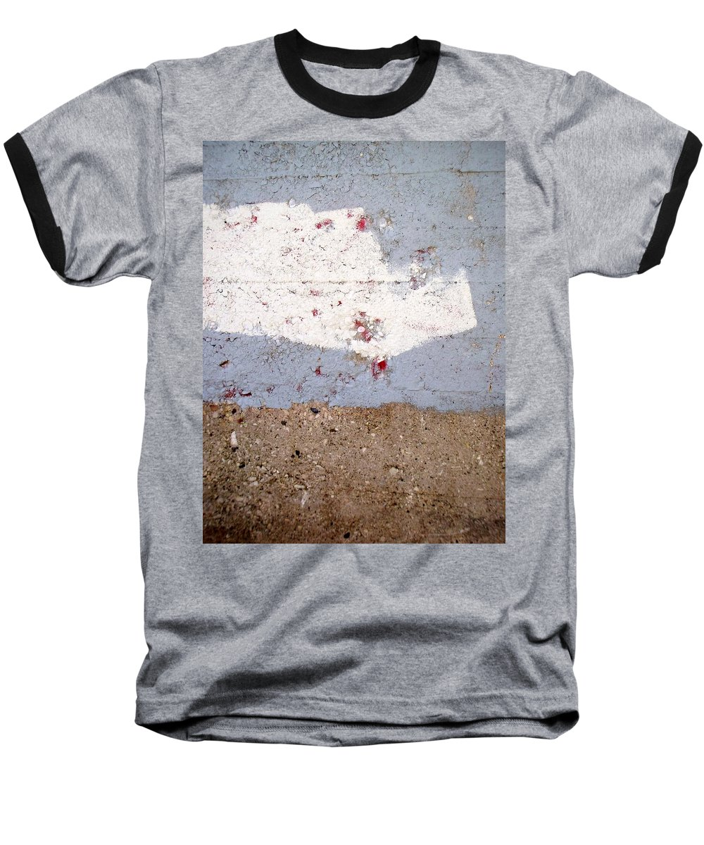 Industrial. Urban Baseball T-Shirt featuring the photograph Abstract Concrete 13 by Anita Burgermeister