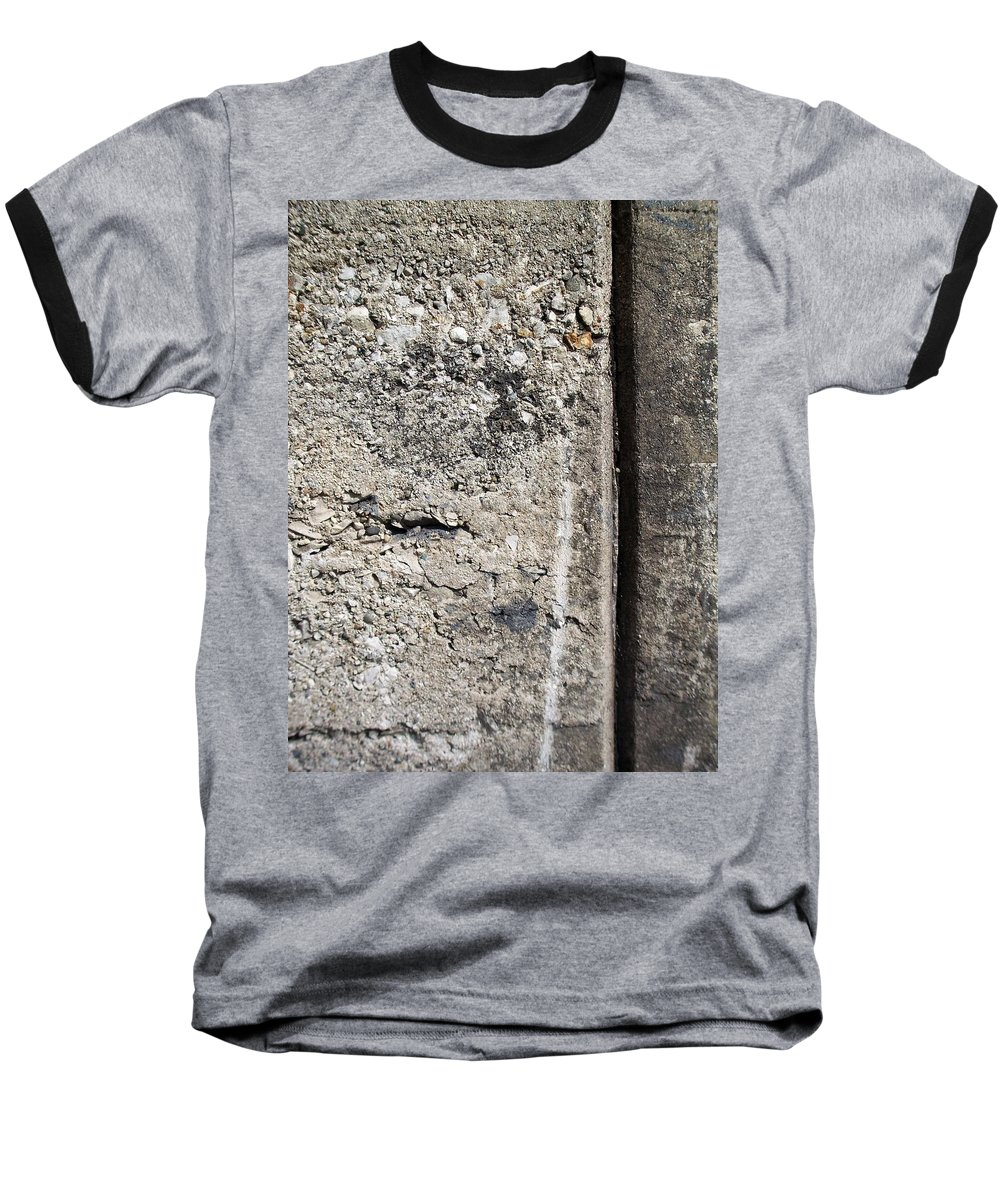 Industrial. Urban Baseball T-Shirt featuring the photograph Abstract Concrete 16 by Anita Burgermeister