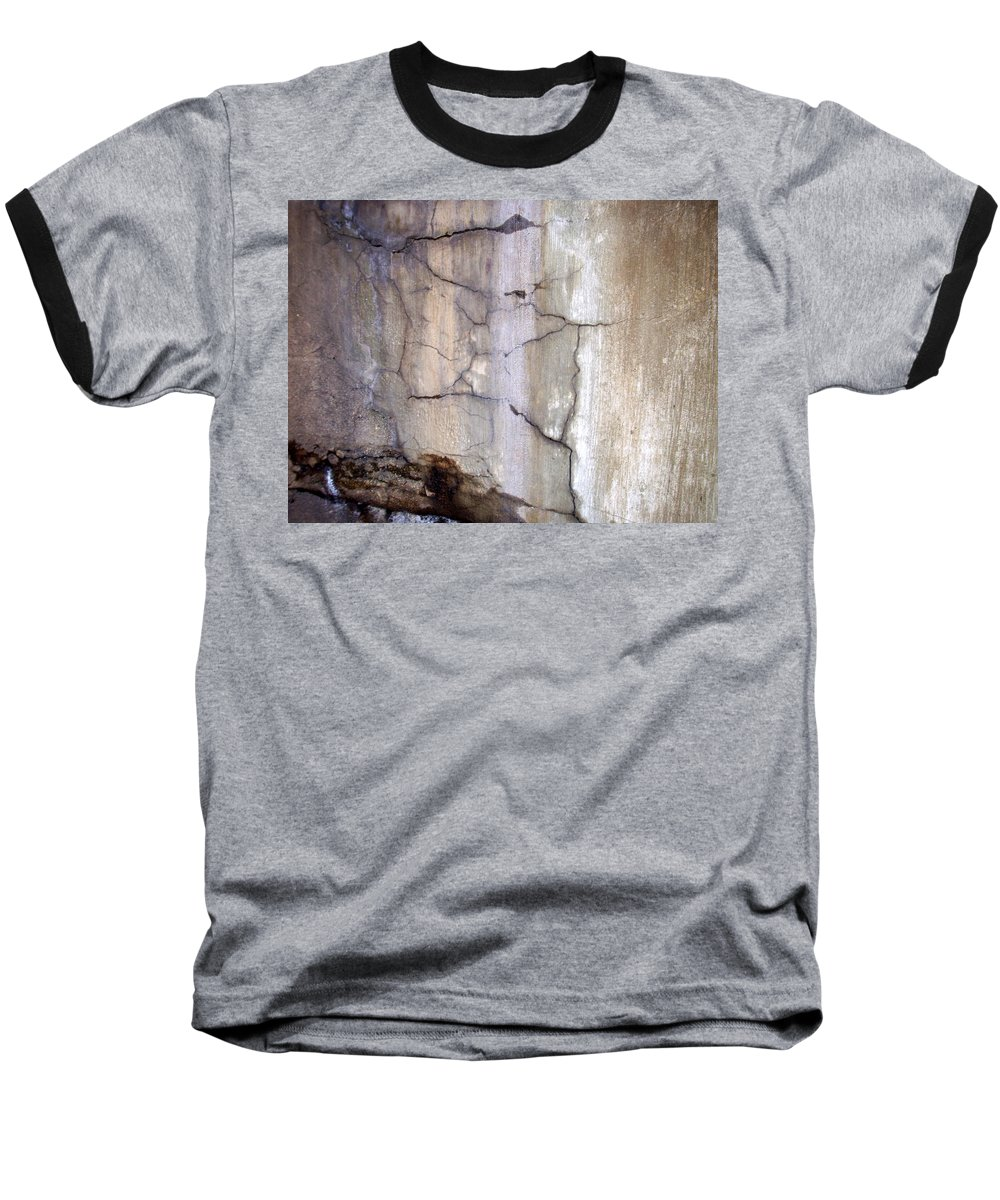 Industrial. Urban Baseball T-Shirt featuring the photograph Abstract Concrete 2 by Anita Burgermeister