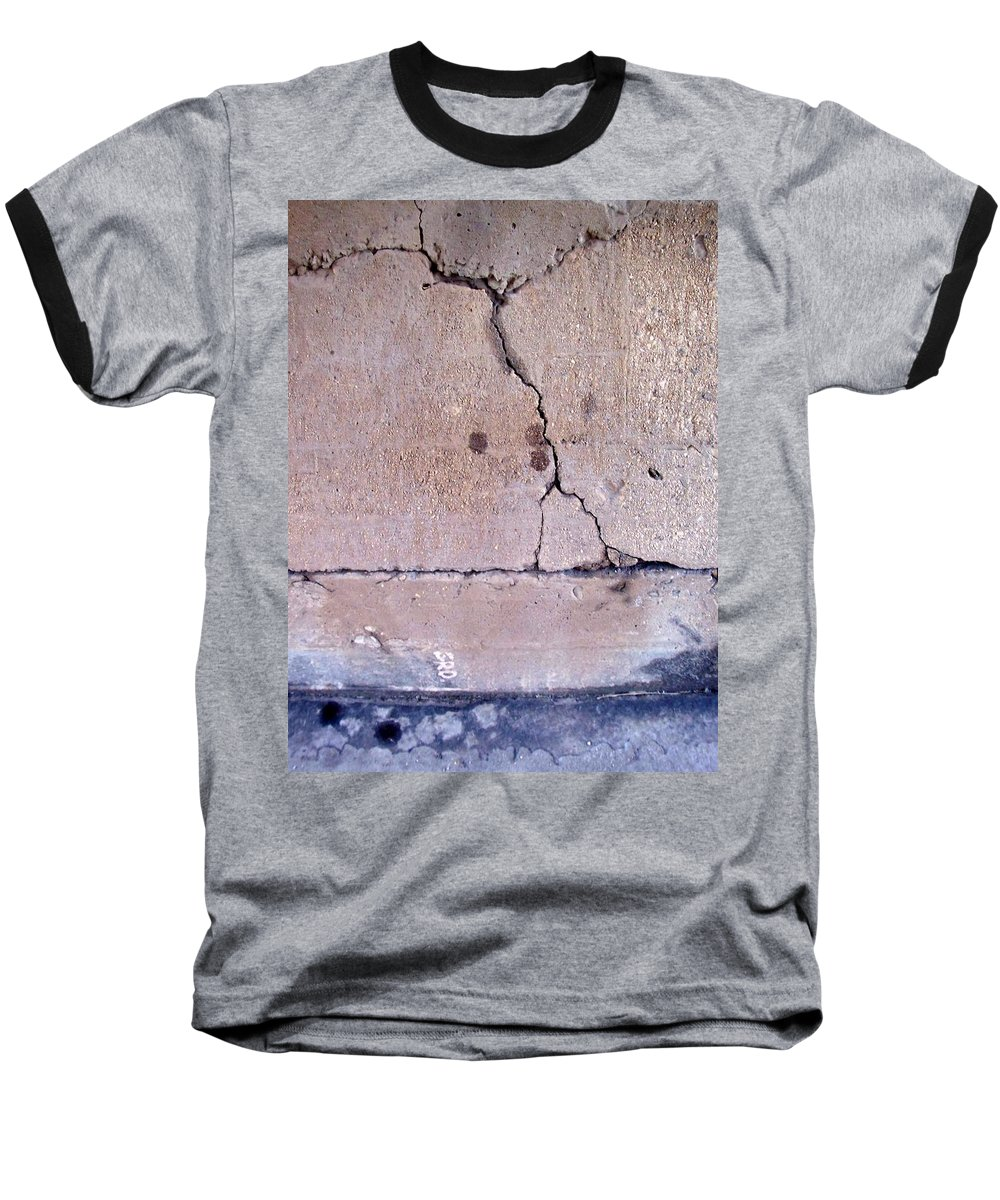 Industrial. Urban Baseball T-Shirt featuring the photograph Abstract Concrete 3 by Anita Burgermeister
