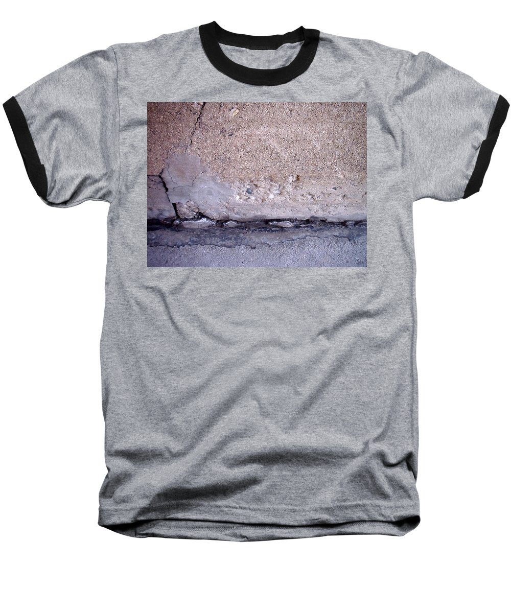 Industrial. Urban Baseball T-Shirt featuring the photograph Abstract Concrete 4 by Anita Burgermeister