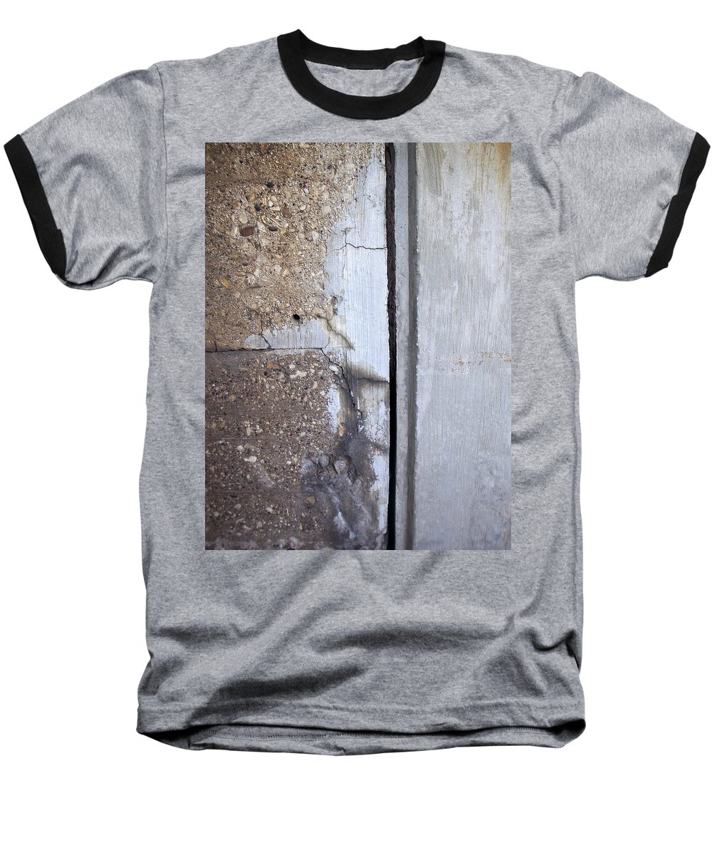 Industrial. Urban Baseball T-Shirt featuring the photograph Abstract Concrete 5 by Anita Burgermeister