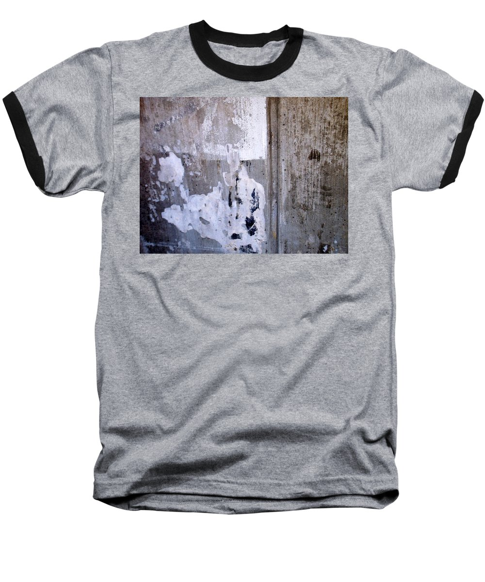 Industrial. Urban Baseball T-Shirt featuring the photograph Abstract Concrete 6 by Anita Burgermeister