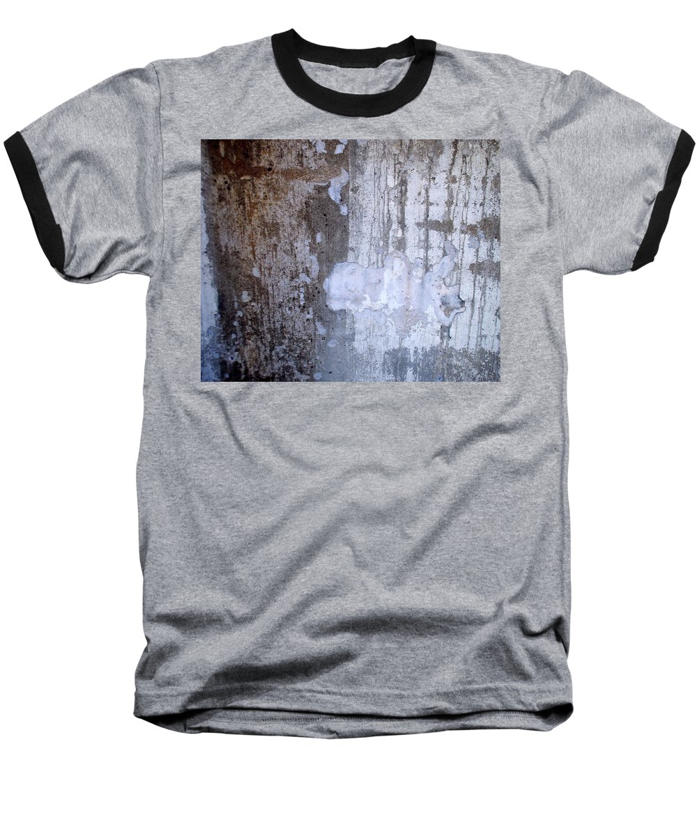 Industrial. Urban Baseball T-Shirt featuring the photograph Abstract Concrete 8 by Anita Burgermeister