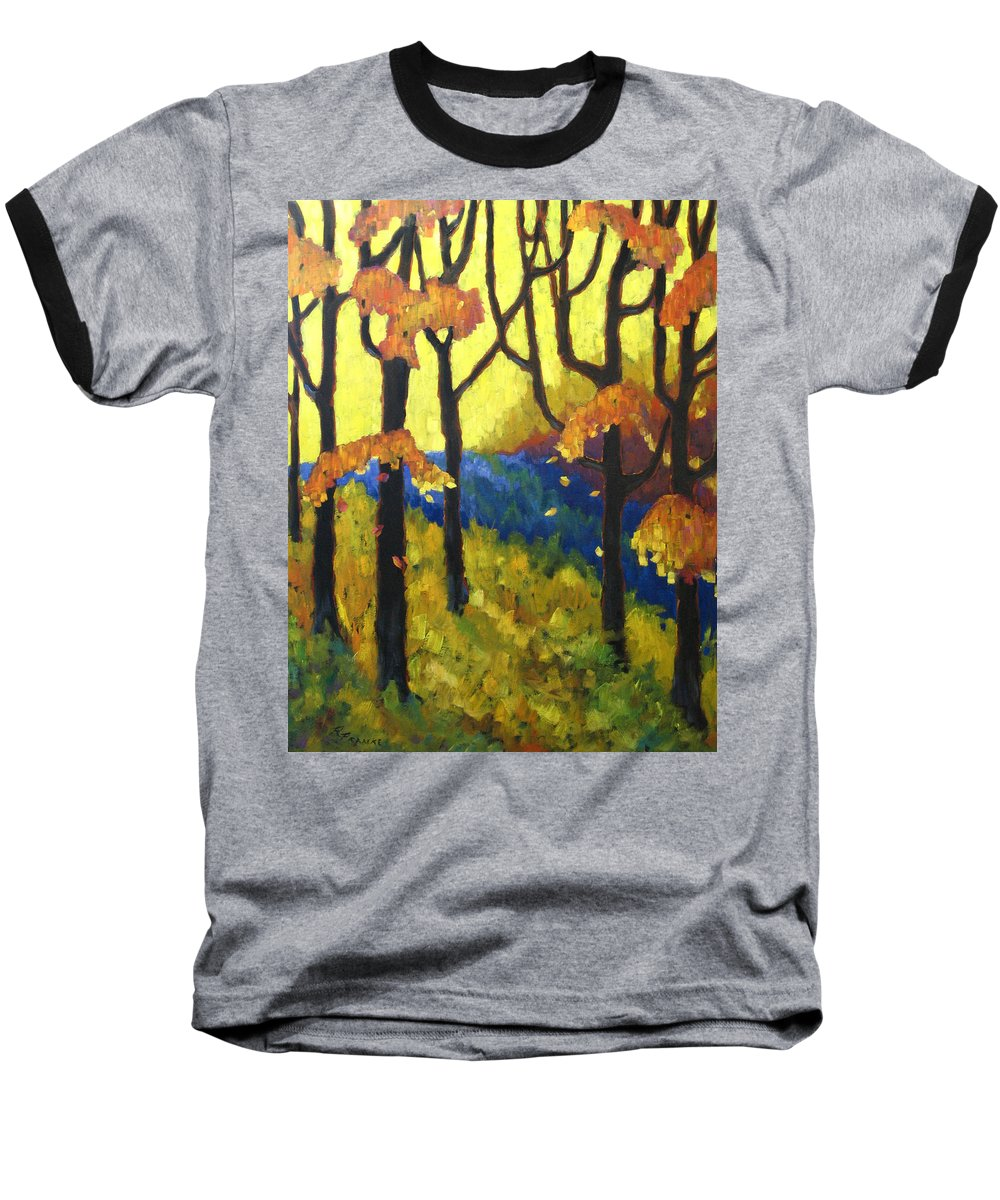 Art Baseball T-Shirt featuring the painting Abstract Forest by Richard T Pranke