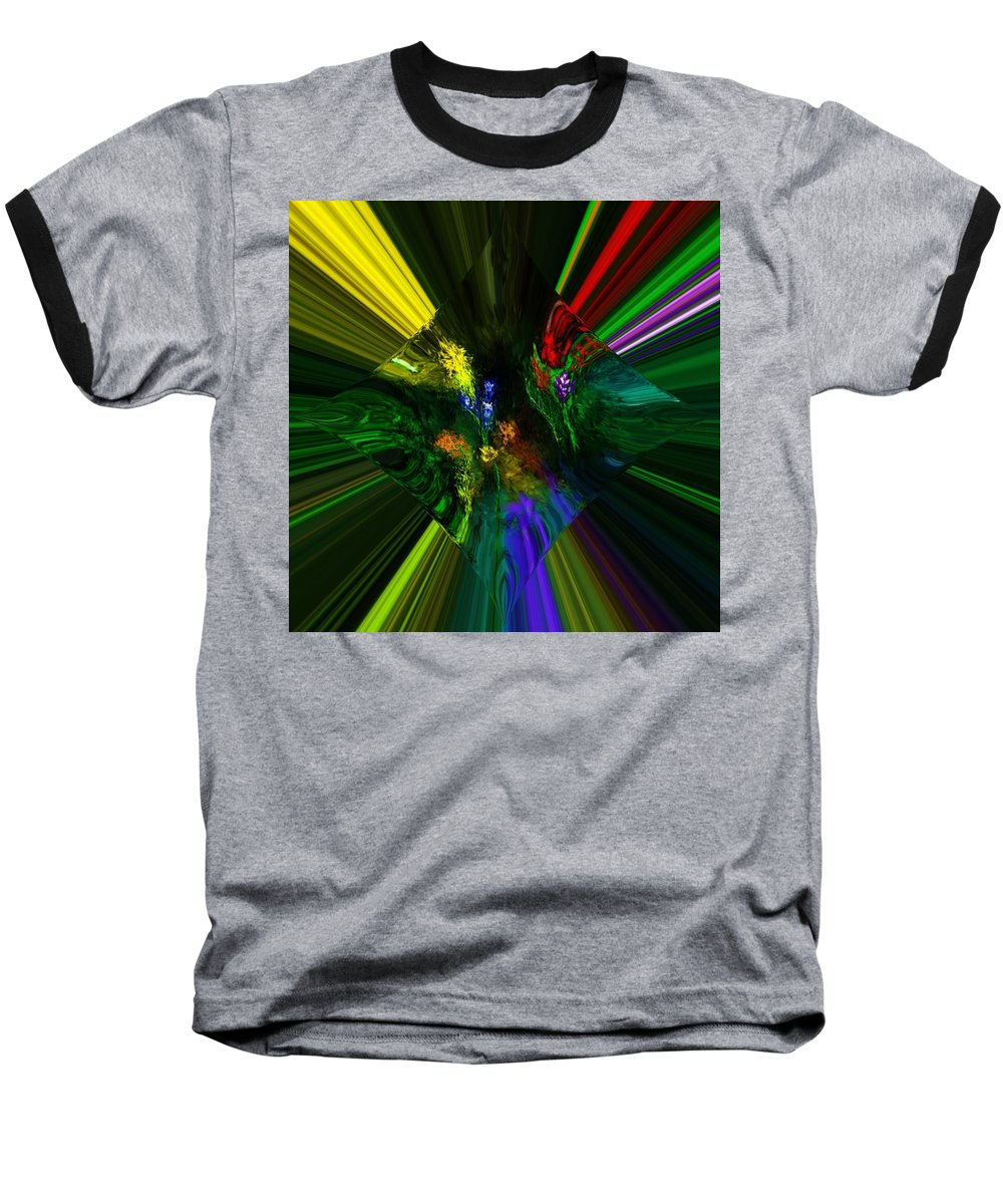 Digital Painting Baseball T-Shirt featuring the digital art Abstract Garden by David Lane