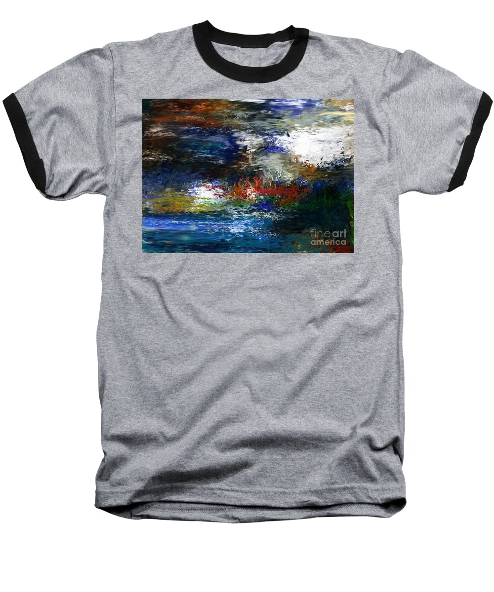 Abstract Baseball T-Shirt featuring the digital art Abstract Impression 5-9-09 by David Lane