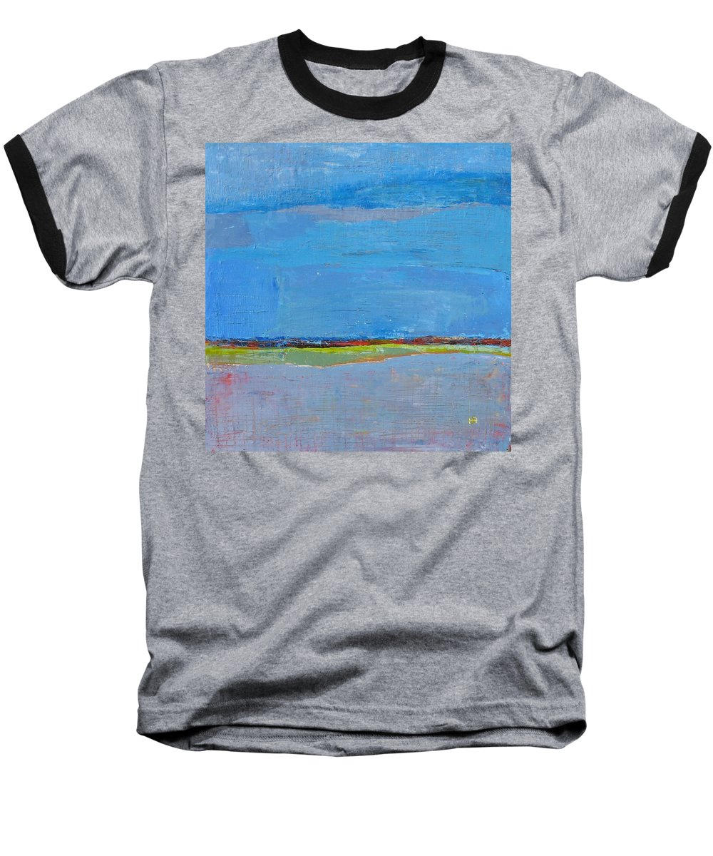 Baseball T-Shirt featuring the painting Abstract Landscape1 by Habib Ayat