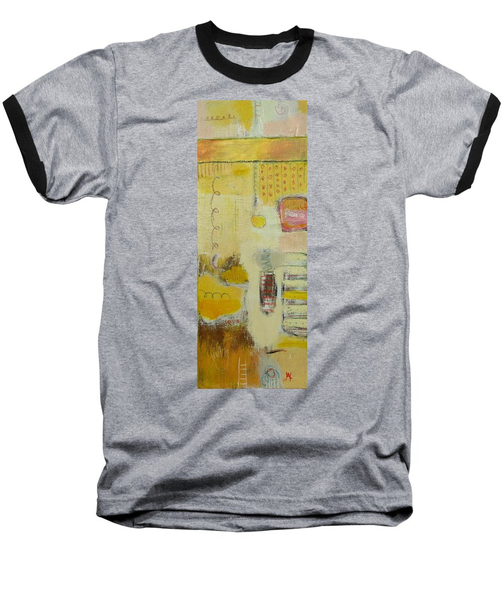 Abstract Baseball T-Shirt featuring the painting Abstract Life 1 by Habib Ayat