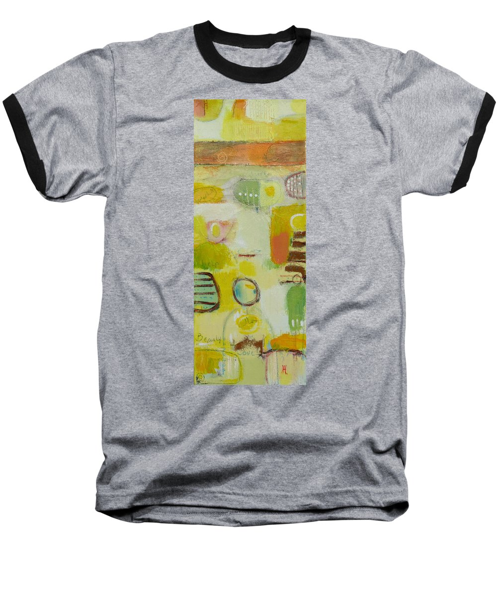 Baseball T-Shirt featuring the painting Abstract Life 2 by Habib Ayat