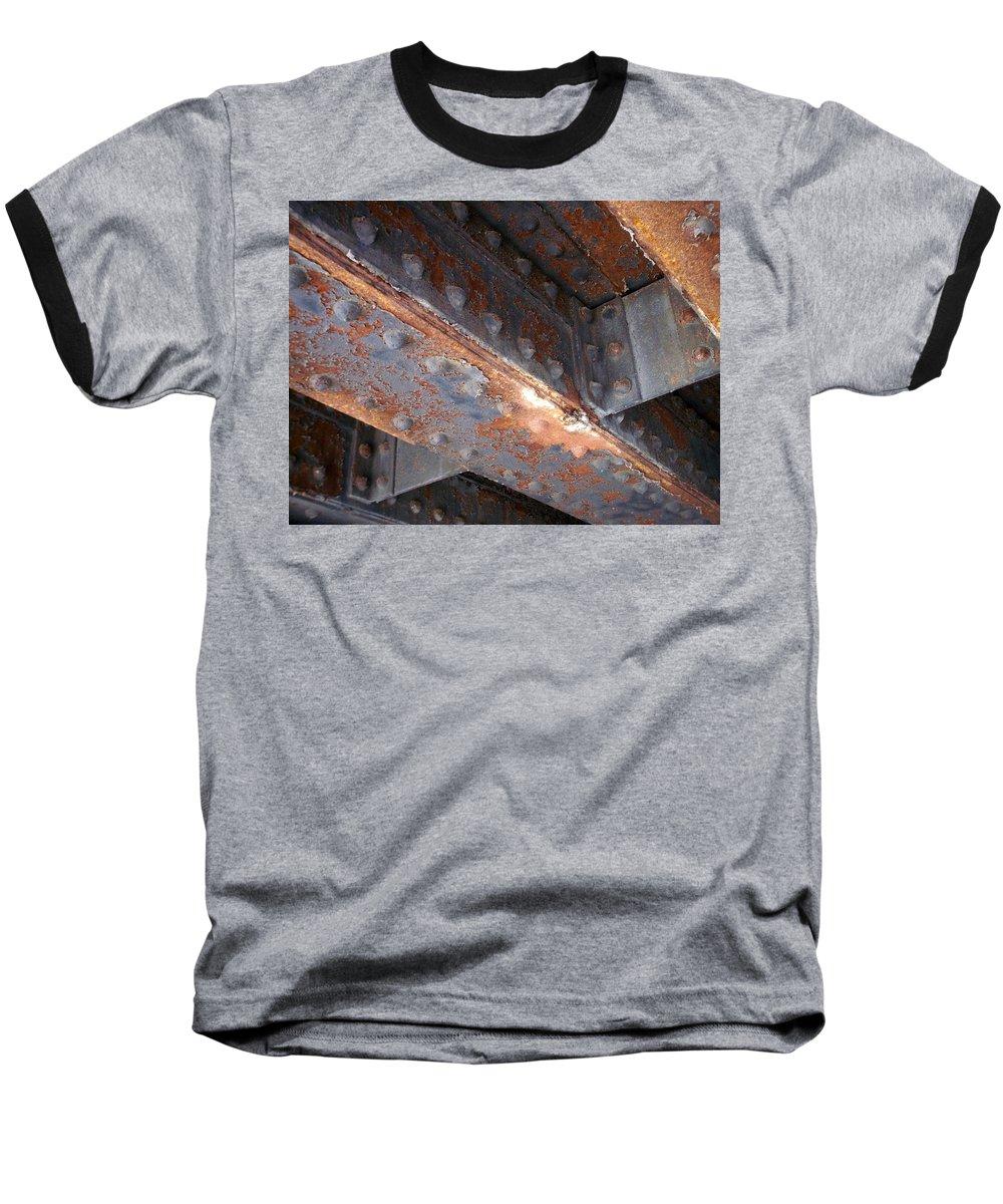Urban Baseball T-Shirt featuring the photograph Abstract Rust 3 by Anita Burgermeister