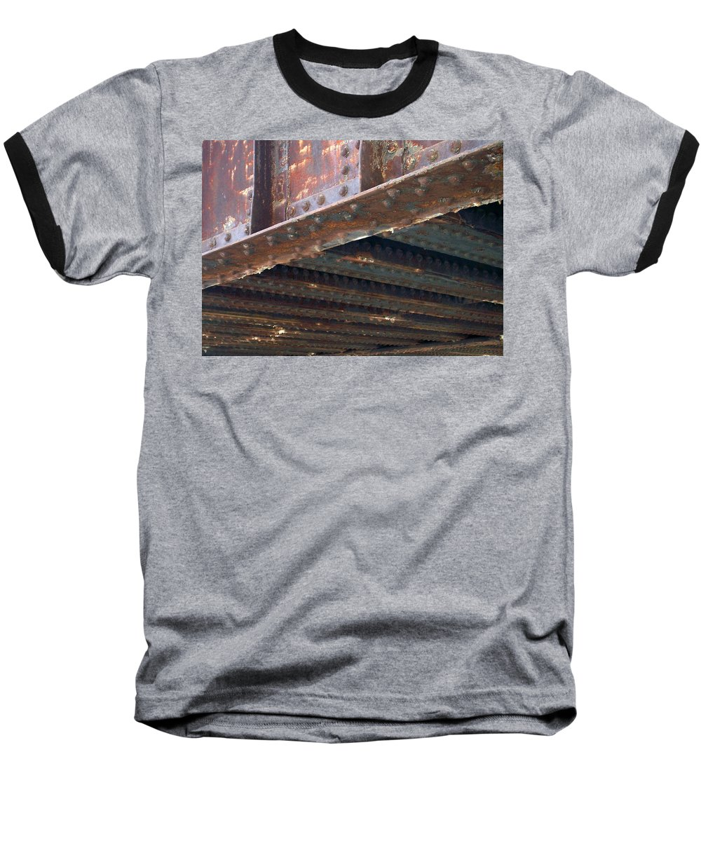 Urban Baseball T-Shirt featuring the photograph Abstract Rust 4 by Anita Burgermeister