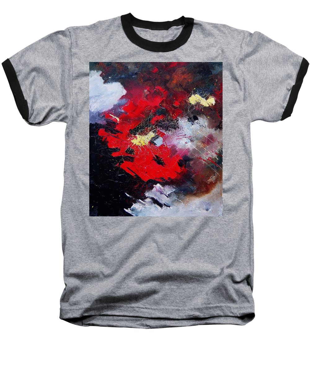 Abstract Baseball T-Shirt featuring the painting Abstract070406 by Pol Ledent