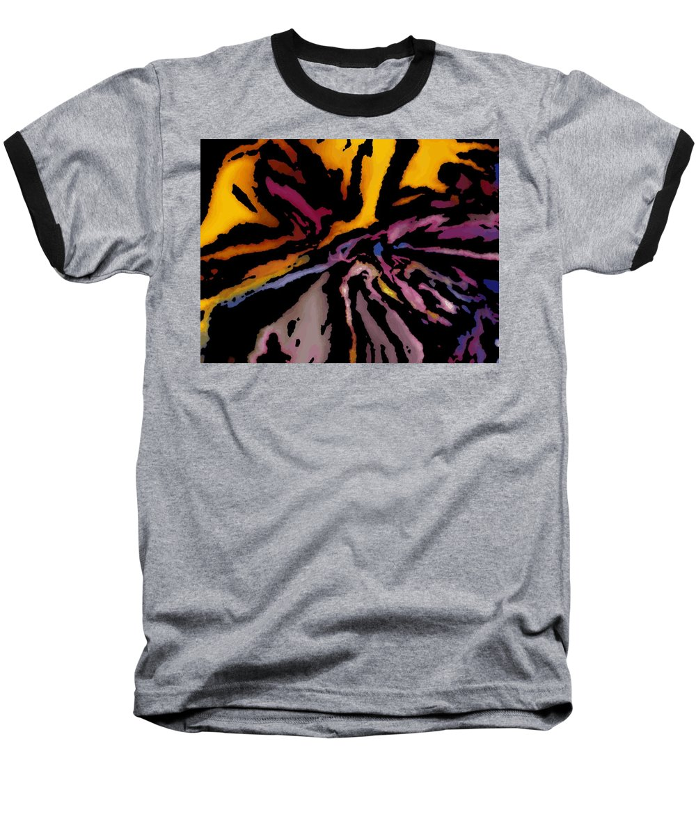 Abstract Baseball T-Shirt featuring the digital art Abstract309g by David Lane