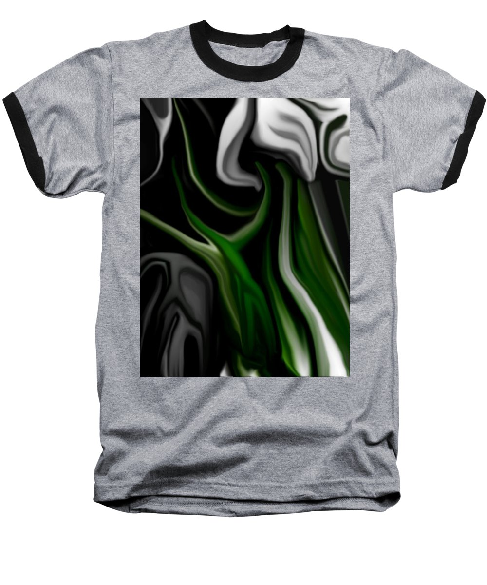 Abstract Baseball T-Shirt featuring the digital art Abstract309h by David Lane