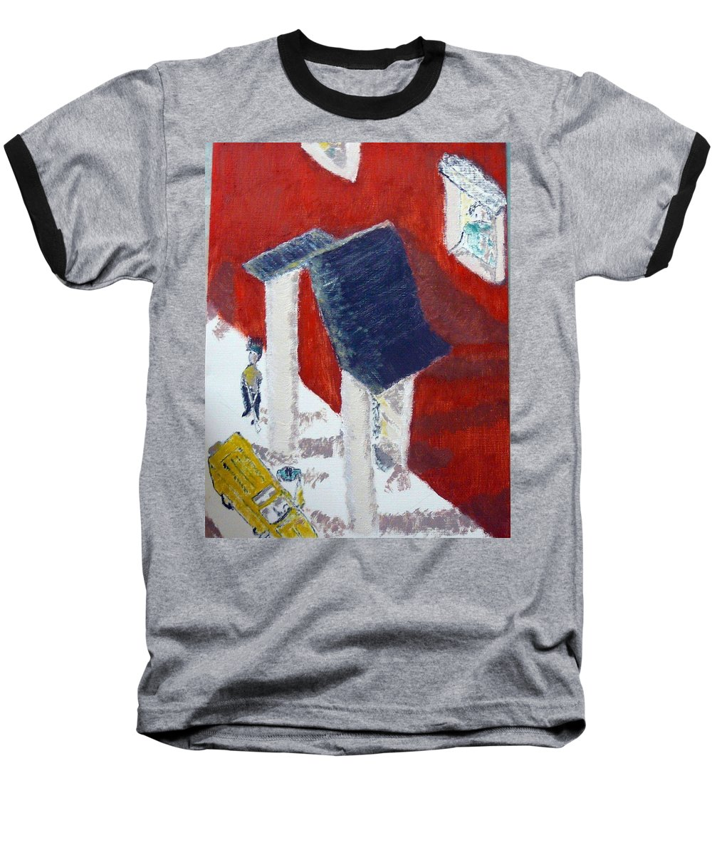 Social Realiism Baseball T-Shirt featuring the painting Accessories by R B