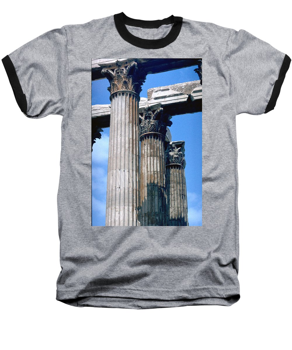 Acropolis Baseball T-Shirt featuring the photograph Acropolis by Flavia Westerwelle