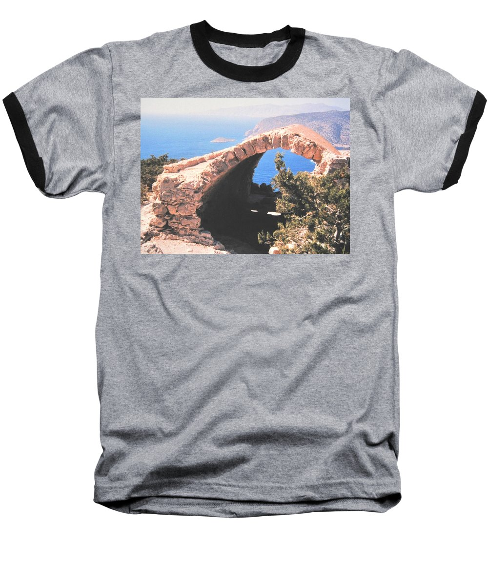 Greece Baseball T-Shirt featuring the photograph Across To Turkey by Ian MacDonald