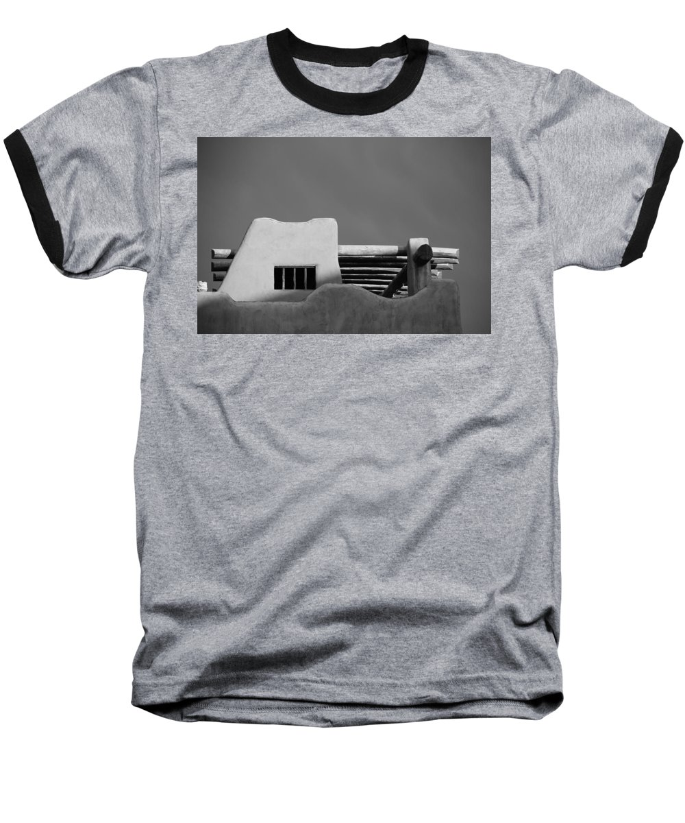 Architecture Baseball T-Shirt featuring the photograph Adobe Turrett by Rob Hans
