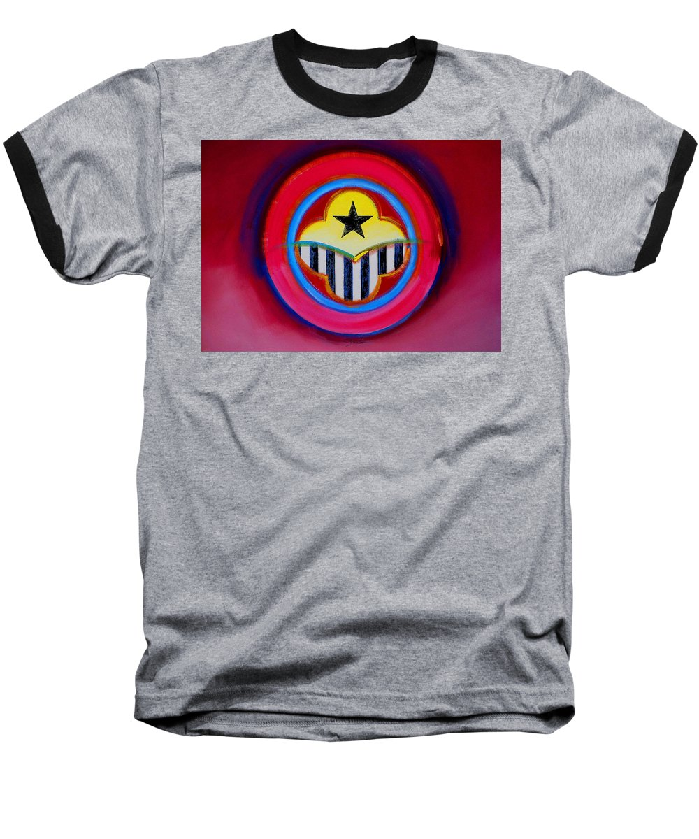 Button Baseball T-Shirt featuring the painting African American by Charles Stuart