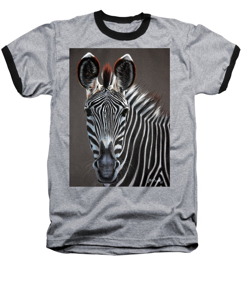 Wildlife Baseball T-Shirt featuring the painting African Beauty by Deb Owens-Lowe