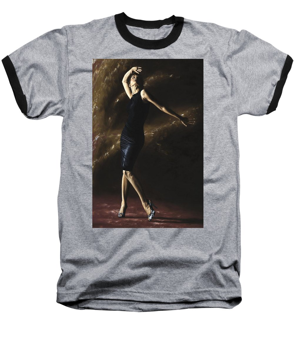 Dance Baseball T-Shirt featuring the painting After The Dance by Richard Young
