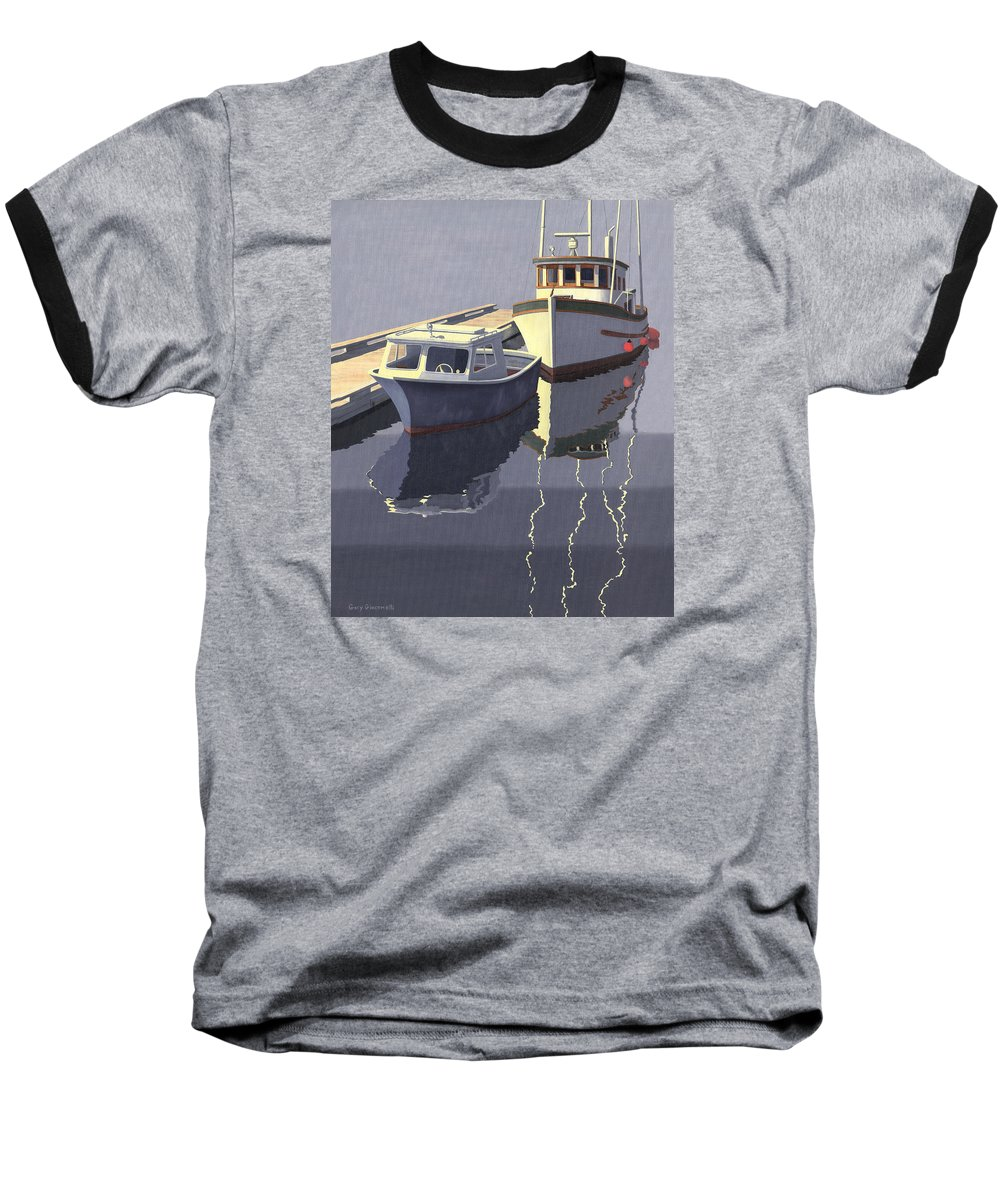 Boat Baseball T-Shirt featuring the painting After The Rain by Gary Giacomelli