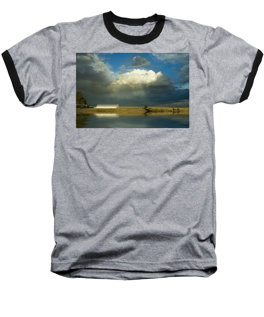 Storm Baseball T-Shirt featuring the photograph After The Storm by Jerry McElroy
