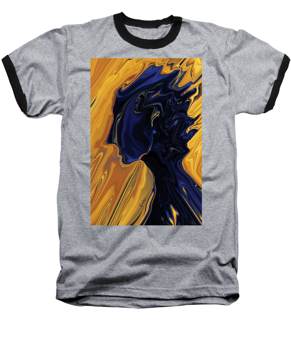 Abstract Baseball T-Shirt featuring the digital art Against The Wind by Rabi Khan