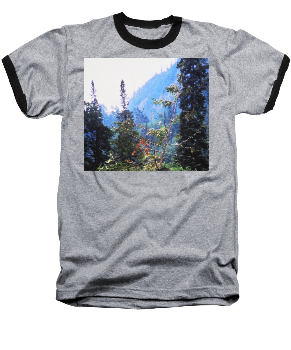 Agawa Baseball T-Shirt featuring the photograph Agawa Canyon by Ian MacDonald