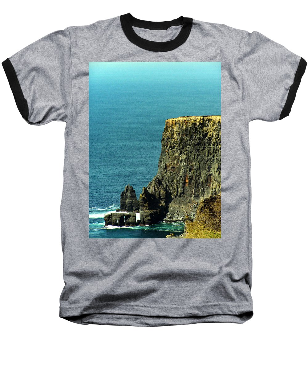 Irish Baseball T-Shirt featuring the photograph Aill Na Searrach Cliffs Of Moher Ireland by Teresa Mucha