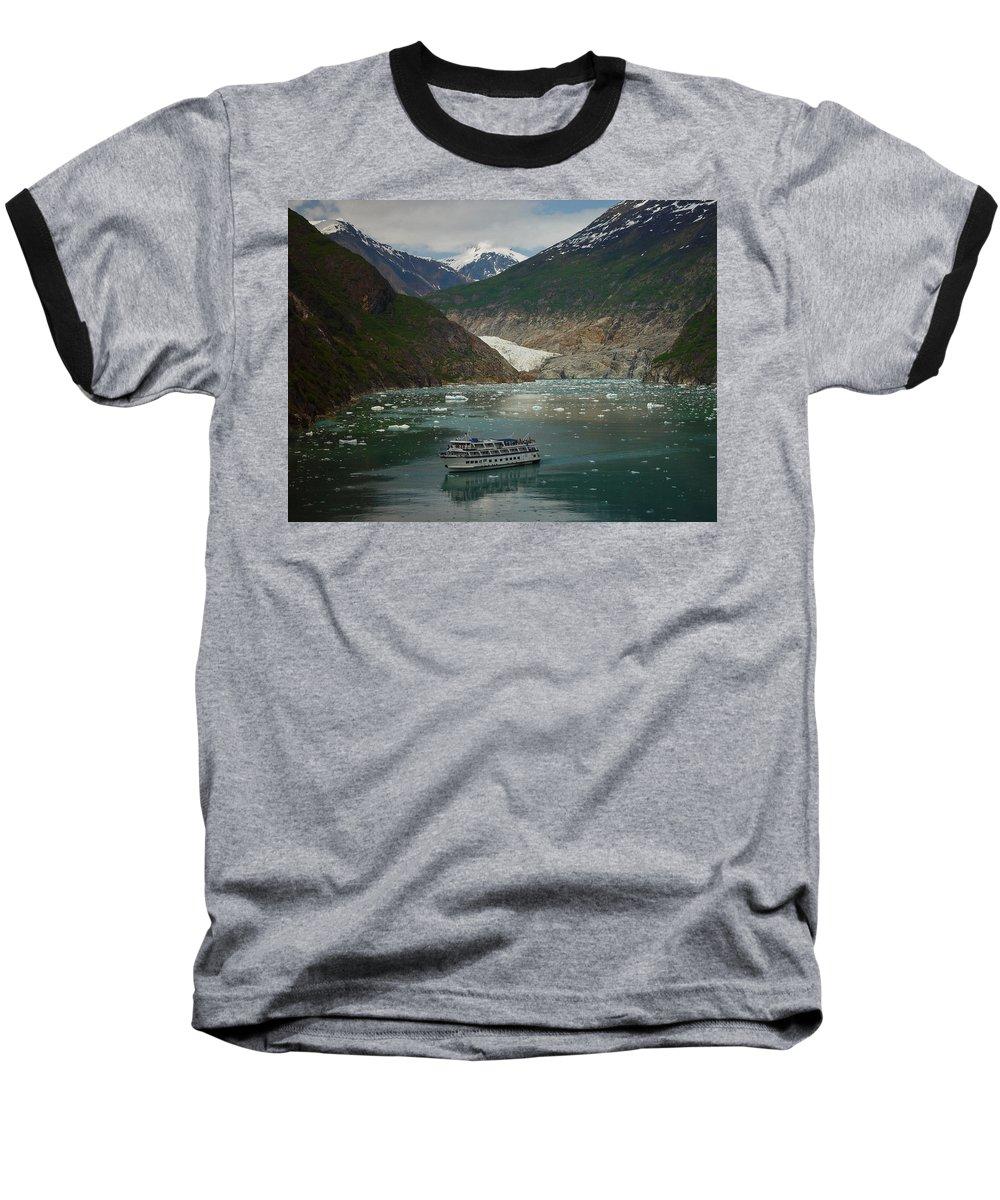 Alaska Baseball T-Shirt featuring the photograph Alaska Endicott Glacier by Heather Coen