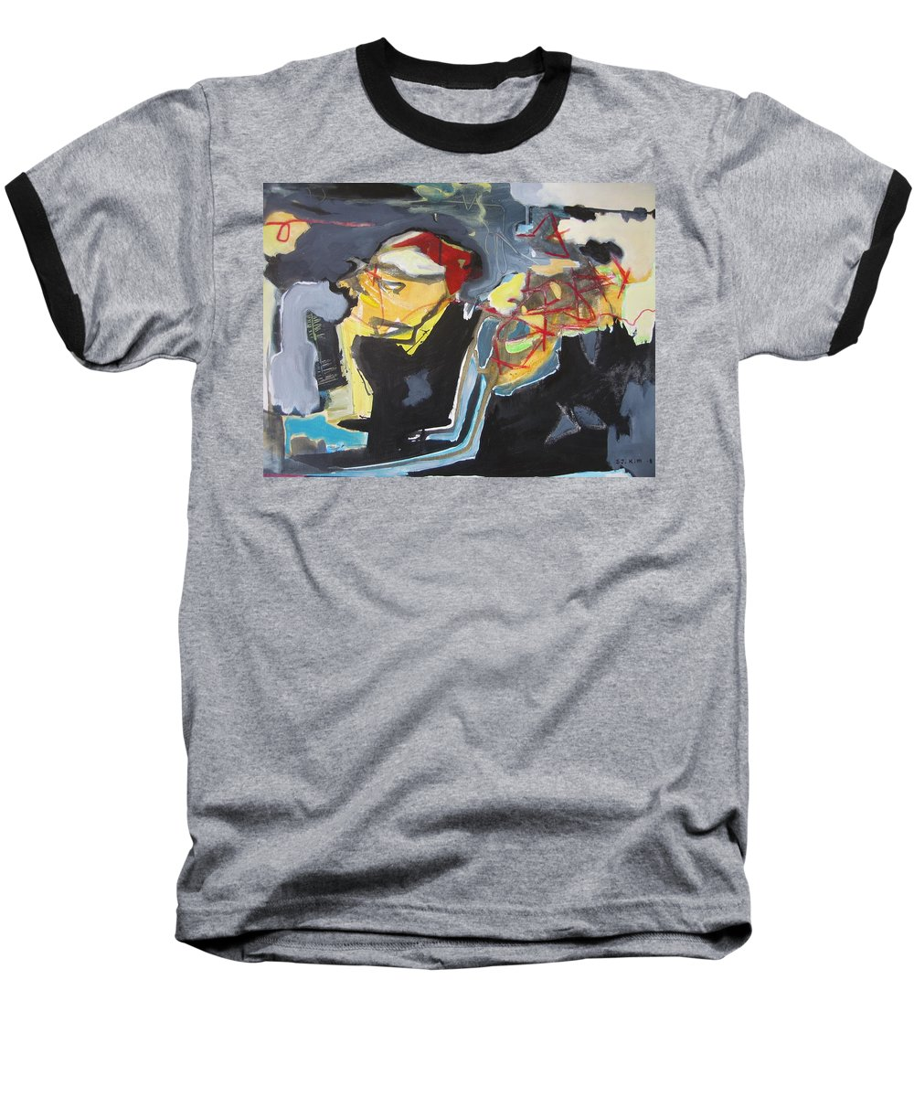 Abstract Paintings Baseball T-Shirt featuring the painting Alexander Trail by Seon-Jeong Kim